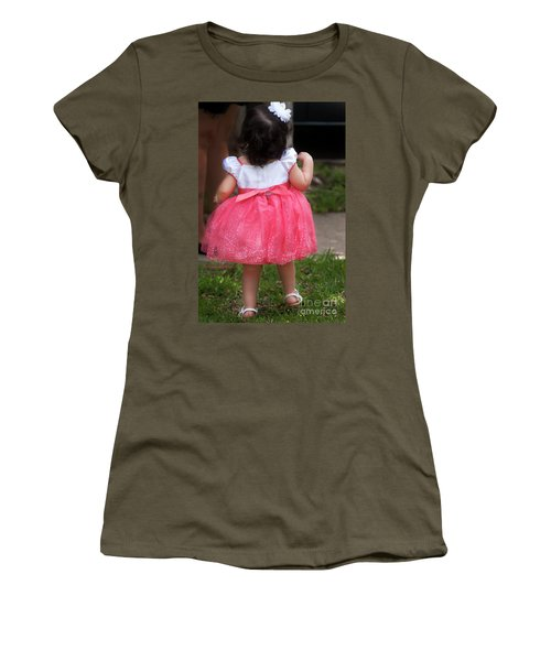 Pick Me Up Women's T-Shirt (Junior Cut) by Joan Bertucci