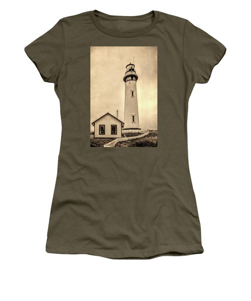 Pigeon Point Light Station Pescadero California Women's T-Shirt (Athletic Fit)