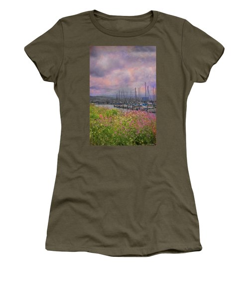 Pillar Point Harbor Women's T-Shirt (Athletic Fit)