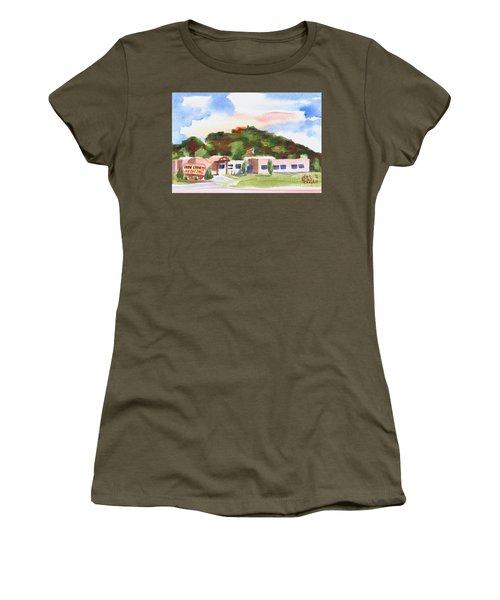 Women's T-Shirt (Junior Cut) featuring the painting Pilot Knob Mountain W401  by Kip DeVore