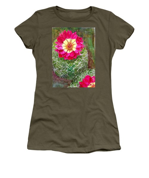 Pincushion Cactus Women's T-Shirt (Athletic Fit)