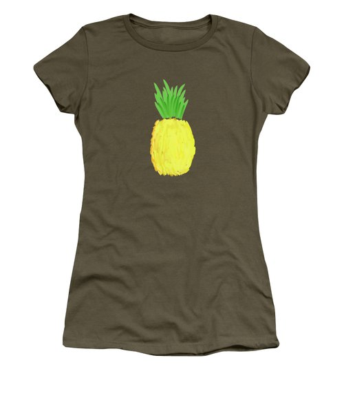 Pineapple Women's T-Shirt (Junior Cut) by Priscilla Wolfe