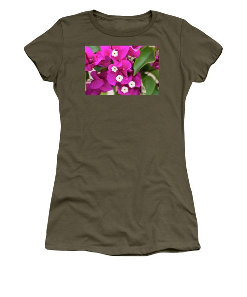 Pink And White Flowers Women's T-Shirt
