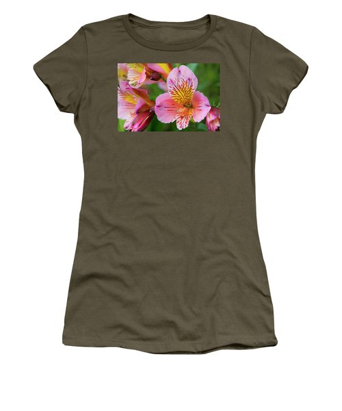 Pink And Yellow Flora Women's T-Shirt (Athletic Fit)