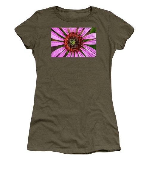 Women's T-Shirt (Junior Cut) featuring the photograph Pink Cornflower by Joann Copeland-Paul