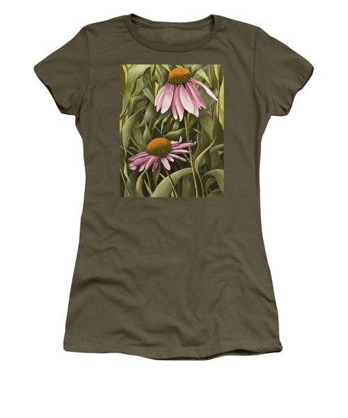 Pink Echinaceas Women's T-Shirt (Athletic Fit)