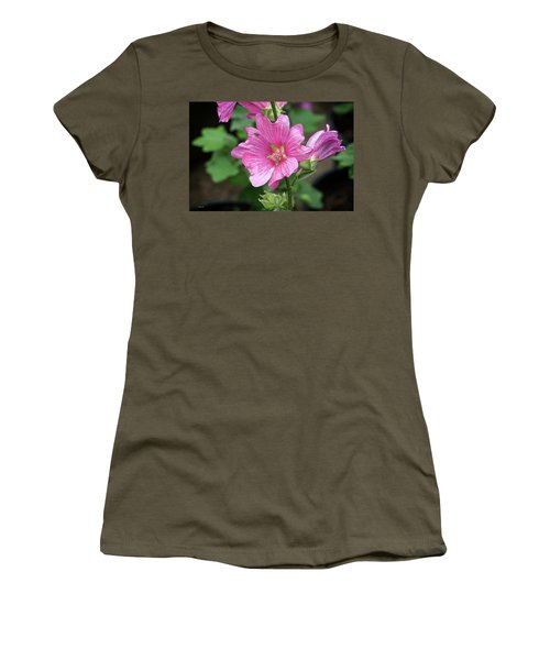 Pink Flower With Bug. Women's T-Shirt