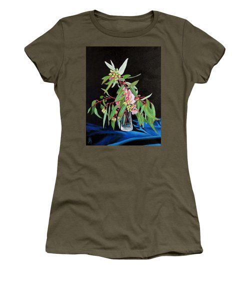 Pink Flowering Gum Women's T-Shirt (Athletic Fit)
