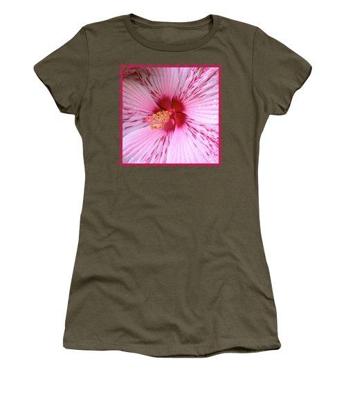 Pink Hibiscus Macro Women's T-Shirt