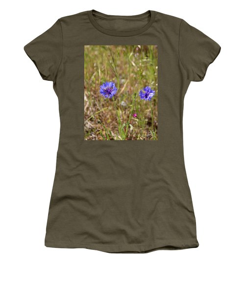 Women's T-Shirt (Athletic Fit) featuring the photograph Pink In Between by Marie Neder