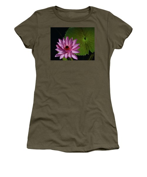 Pink Lotus Women's T-Shirt (Junior Cut) by Evelyn Tambour