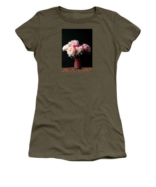 Pink Peonies In Pink Vase Women's T-Shirt