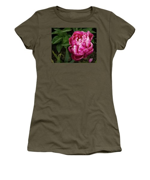 Women's T-Shirt (Athletic Fit) featuring the photograph Pink Peony by Jean Noren