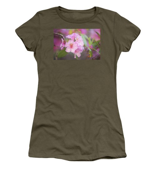 Pink Rhododendron Flowers Women's T-Shirt