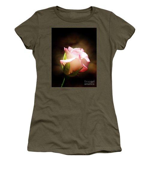 Pink Rose 2 Women's T-Shirt (Junior Cut) by Inspirational Photo Creations Audrey Woods