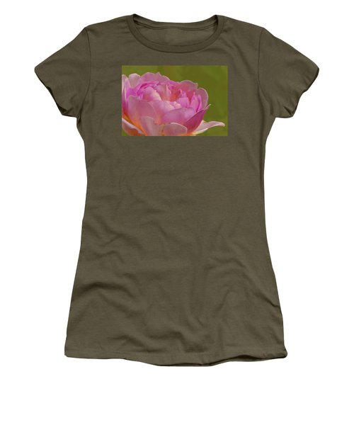 Pink Rose #d3 Women's T-Shirt (Athletic Fit)