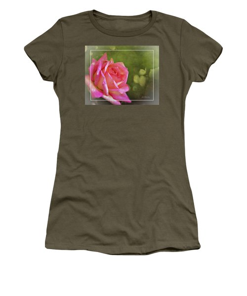 Pink Rose Dream Digital Art 3 Women's T-Shirt (Athletic Fit)