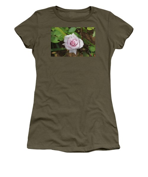 Women's T-Shirt (Junior Cut) featuring the photograph Pink Rose by Jerry Battle