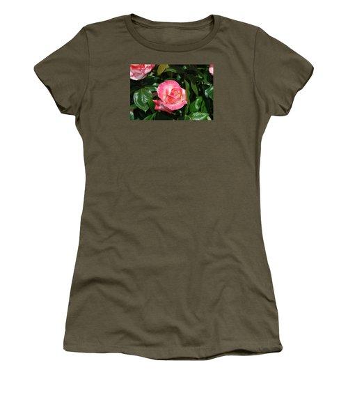 Pink Rose Women's T-Shirt (Junior Cut)