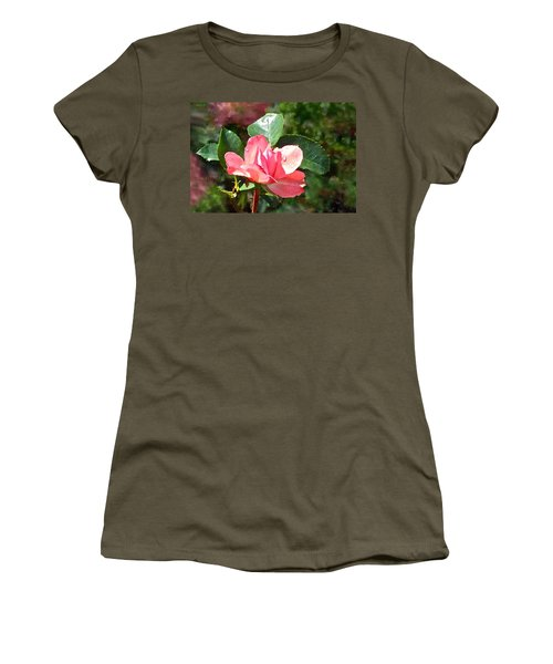 Pink Roses In The Rain 2 Women's T-Shirt