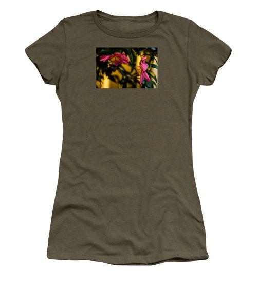 Pink Sasanquas  Women's T-Shirt (Junior Cut) by John Harding