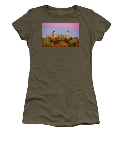 Pink Sky Over Old Main  Women's T-Shirt (Athletic Fit)