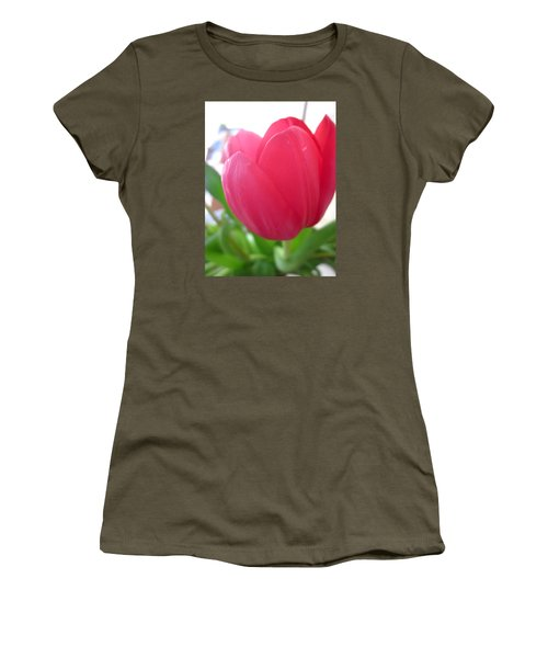 Pink Tulip Women's T-Shirt (Athletic Fit)