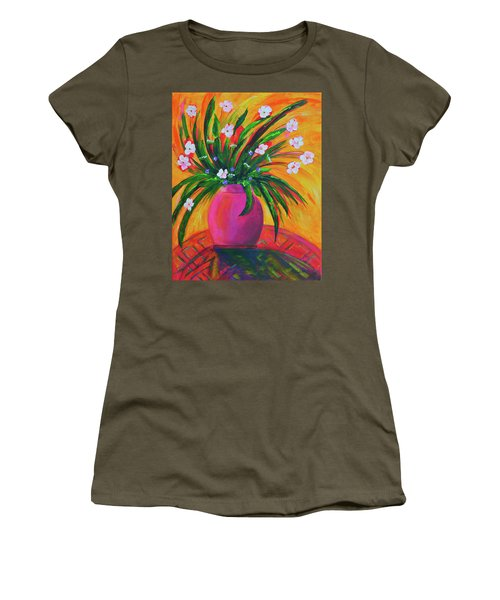 Pink Vase In Warm Afternoon Women's T-Shirt (Athletic Fit)