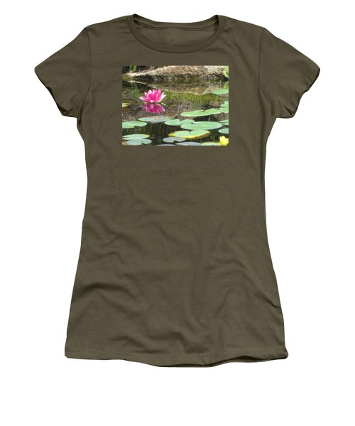 Pink Waterlilly  Women's T-Shirt (Athletic Fit)