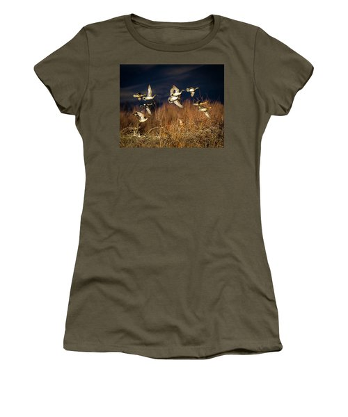 Pintails And Wigeons Women's T-Shirt (Junior Cut)