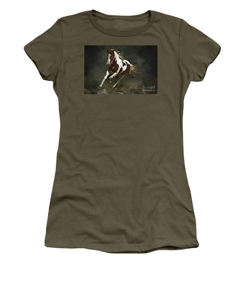 Pinto Horse In Motion Women's T-Shirt