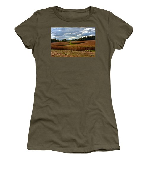 Pinwheel Cornfield Women's T-Shirt (Athletic Fit)