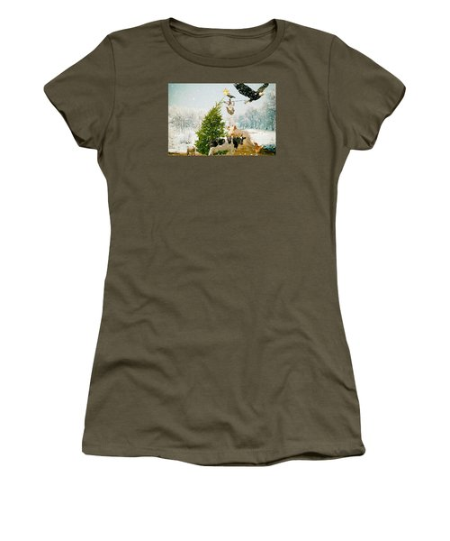 Women's T-Shirt (Junior Cut) featuring the photograph Placing Your Star by James Bethanis