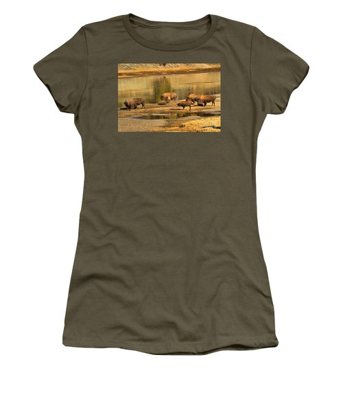 Women's T-Shirt (Junior Cut) featuring the photograph Planning To Cross by Adam Jewell