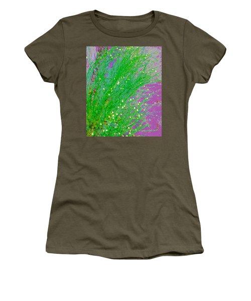Women's T-Shirt (Junior Cut) featuring the photograph Plant Design by Lenore Senior