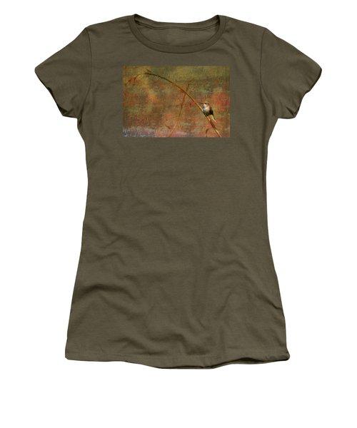 Plate 225 - Hummingbird Grunge Series Women's T-Shirt (Athletic Fit)