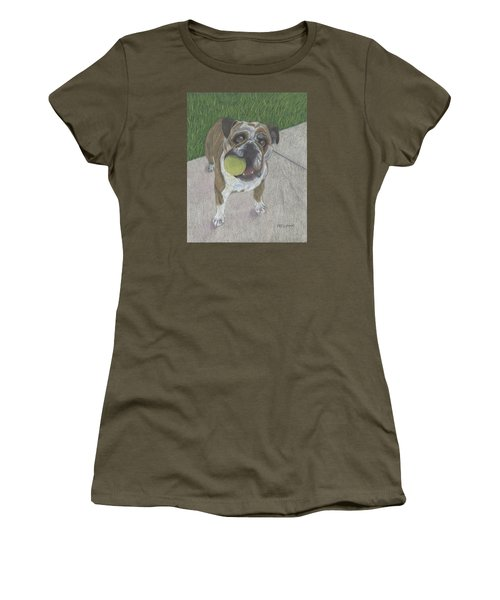 Play With Me Women's T-Shirt (Junior Cut) by Arlene Crafton
