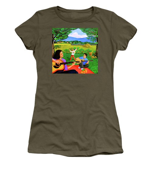 Playing Melodies Under The Shade Of Trees Women's T-Shirt (Junior Cut) by Lorna Maza