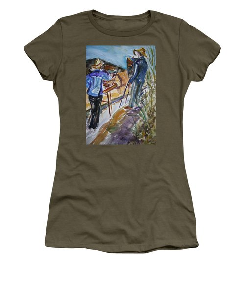 Plein Air Painters - Original Watercolor Women's T-Shirt