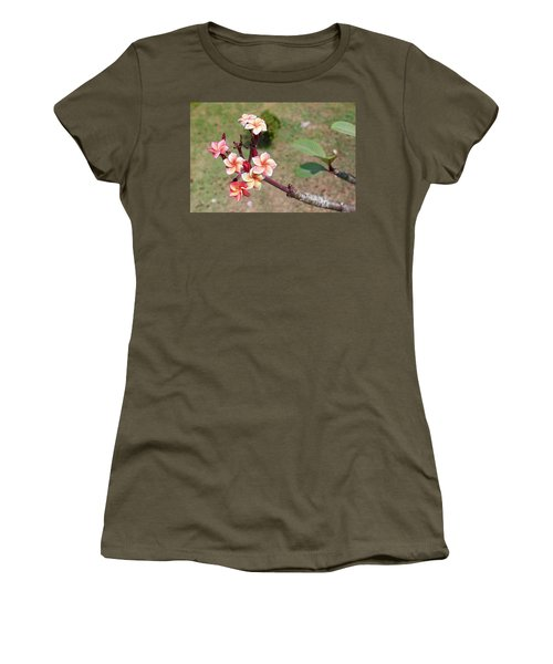 Women's T-Shirt (Athletic Fit) featuring the photograph Plumeria Flowers by Jingjits Photography