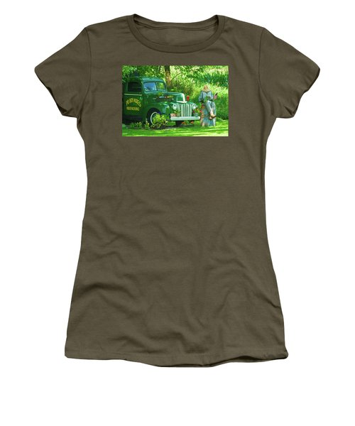 Po Boy Acres Women's T-Shirt (Athletic Fit)