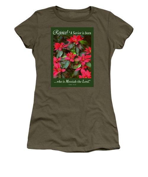 Poinsettia Christmas Women's T-Shirt
