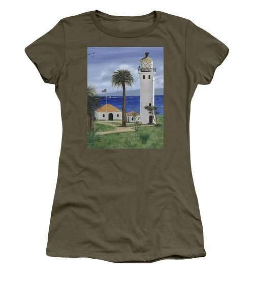 Point Vicente Lighthouse Women's T-Shirt (Junior Cut) by Jamie Frier