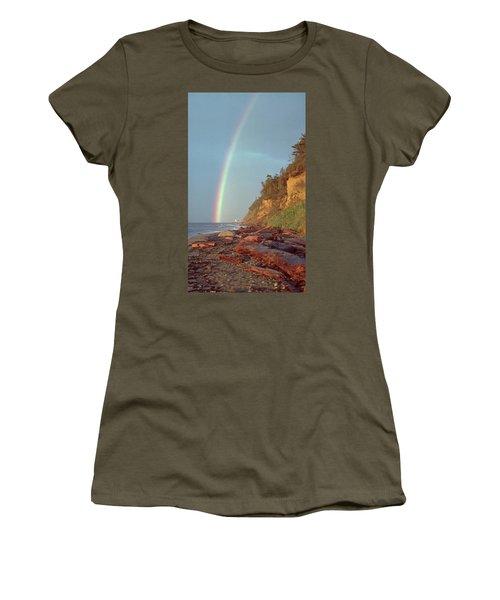 Women's T-Shirt (Junior Cut) featuring the photograph Point Wilson by Laurie Stewart