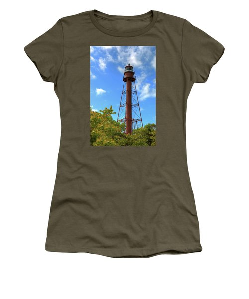 Point Ybel Lighthouse Women's T-Shirt (Junior Cut) by Sharon Batdorf