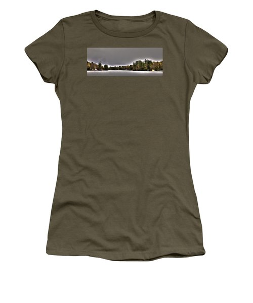 Pond Panorama Women's T-Shirt (Junior Cut) by David Patterson