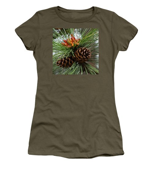 Ponderosa Pine Cones Women's T-Shirt (Athletic Fit)