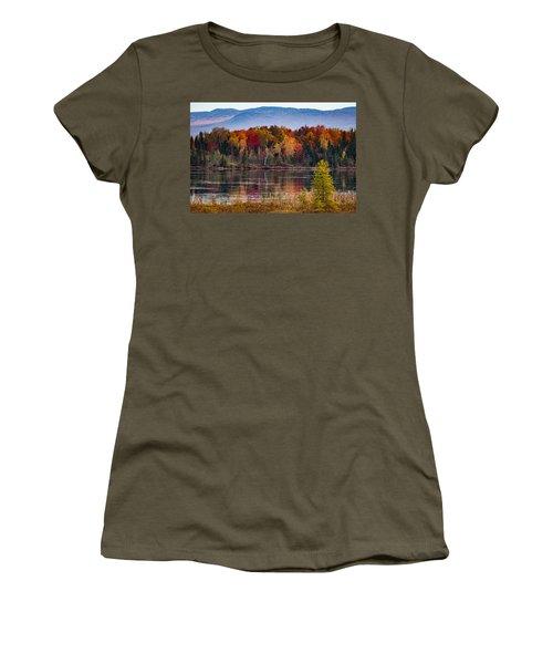 Pondicherry Fall Foliage Reflection Women's T-Shirt