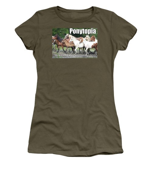 Ponytopia Saying Women's T-Shirt (Athletic Fit)