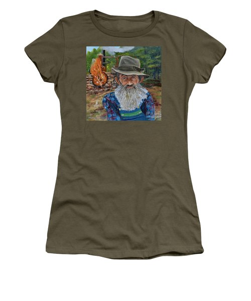 Popcorn Sutton - Rocket Fuel -white Whiskey Women's T-Shirt
